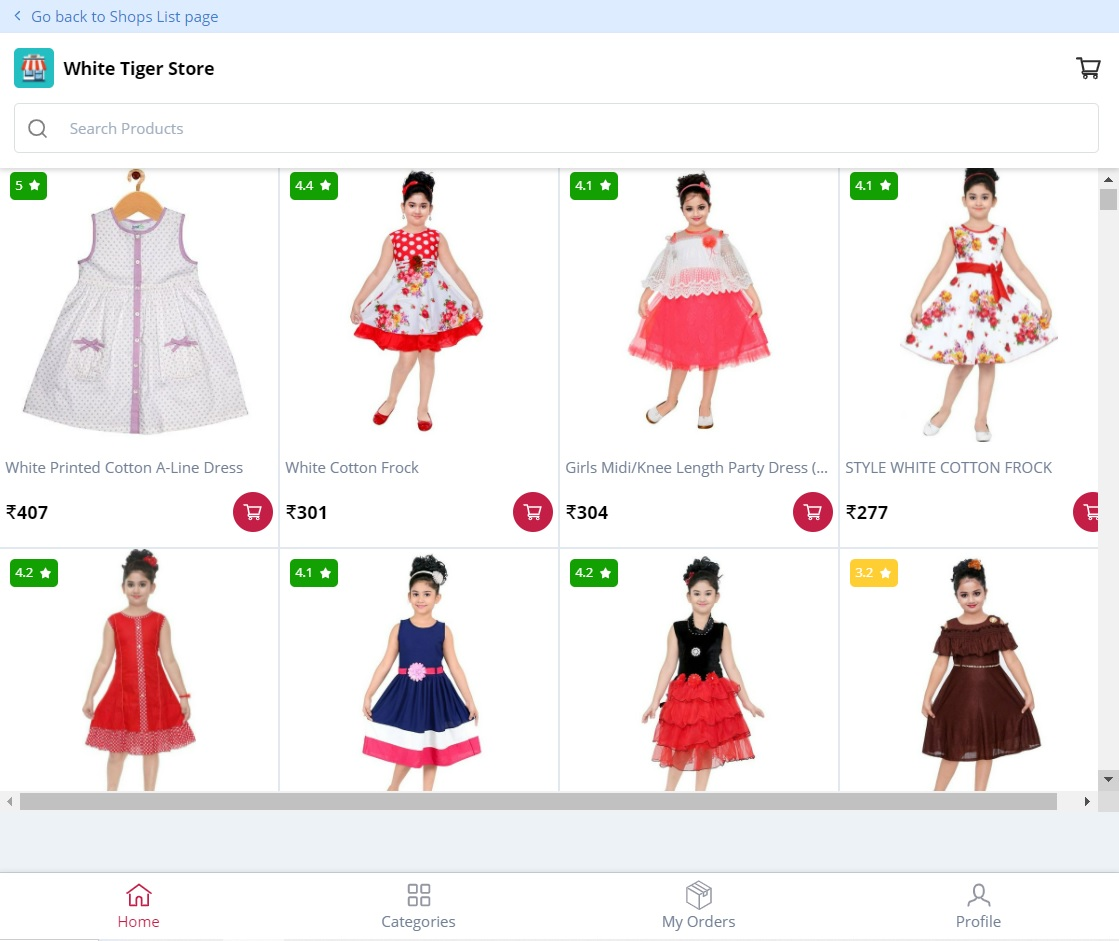 White Tiger Store – chhota pilanka dress ( Top Trending Collection – Best Price Store)