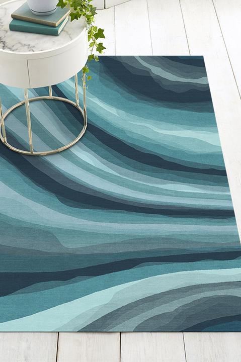 Waves Blue Rug